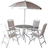 Conjunto Ipanema 1 Mesa com 4 Cadeiras para Jardim Branco