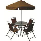 Conjunto Miami 1 Mesa com 4 Cadeiras para Jardim Café