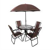 Conjunto de Mesa Leblon e 4 Cadeiras Café com Guarda- Sol Bel Fix