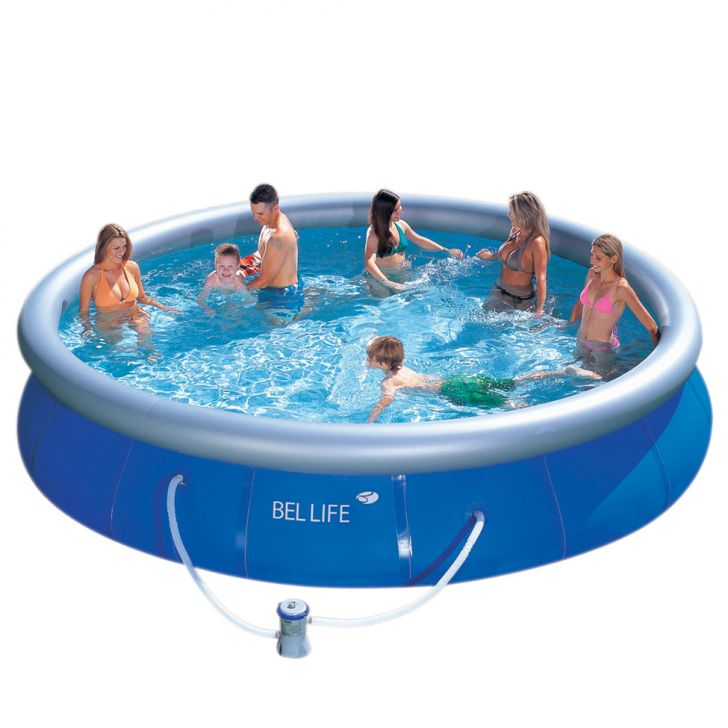 Piscina bel fix litros azul 110v for Piscina 3500 litros