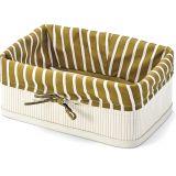 Cesto Ret Gold & White 35x25cm