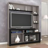Home Theater Liz Ciliégio Com Preto Tx Benetil Moveis