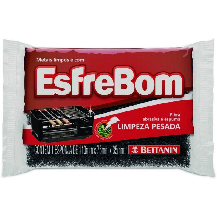 Esponja Esfrebom Prata 11 x 7,5 x 3,5 cm
