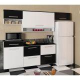 Cozinha Campacta Agata 6 PT 3 GV Branco & Preto