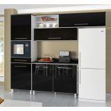 Cozinha Campacta Beatriz Classic 6 Portas e 1 Gaveta Preta