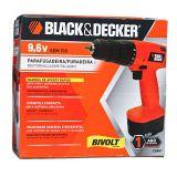 Furadeira e Parafusadeira 9,6v Black Decker CD961 Bivolt