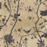 Papel de Parede Natural Bege, Cinza Pássaros1443