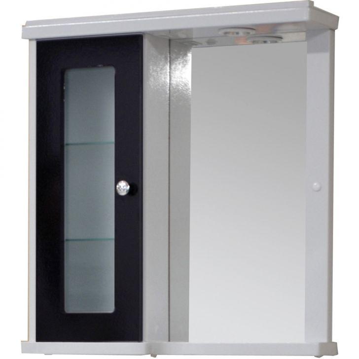 Armario para Banheiro 62 Havana ACH06 Branco com Preto -> Armario Banheiro Bonatto