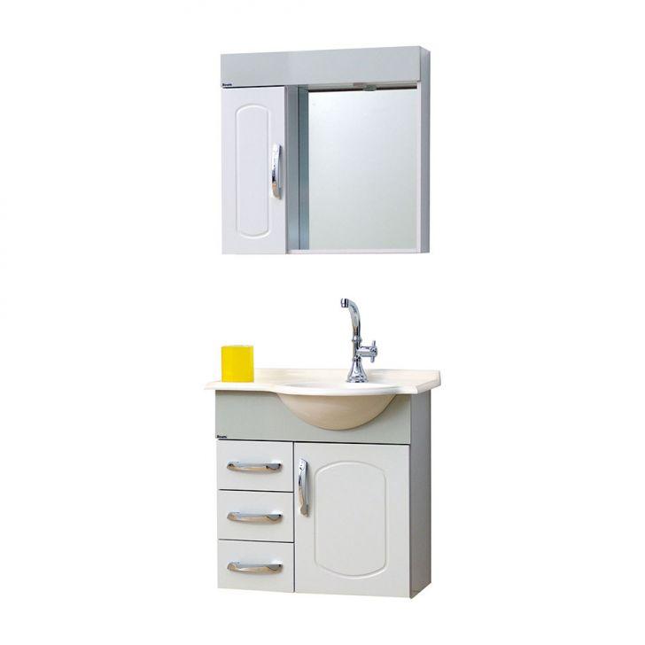 Conjunto Gabinete Aspen KCG64 Branco