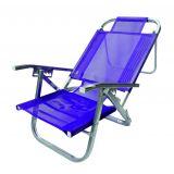 Cadeira de Praia Alta Copacabana Roxa
