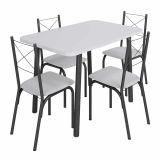 Conjunto Mesa E 4 Cadeiras Branco Detroit