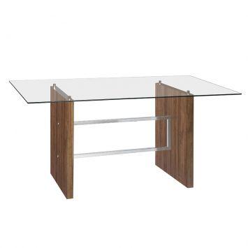 Mesa de Jantar ME - 370 Vidro Incolor Cromado Brastubo ME - 370