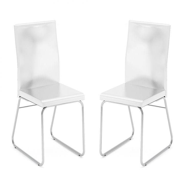 Conjunto 2 Cadeiras C-668 Facto Branco