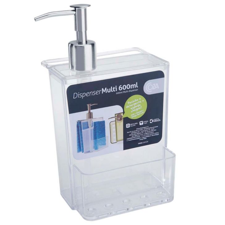 Dispenser Multi Brinox 20719/0009 Transparente - 600ml DESCONTO DE R$: 9,38 (29,06% OFF) - OFERTA MOBLY