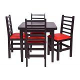 Conjunto Mesa Com 4 Cadeiras Barbara