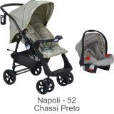 Conjunto Carrinho AT6 + Bebê Conforto Touring Evolution SE Napoli - Burigotto