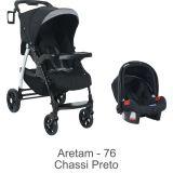 Conjunto Carrinho Módulo + Bebê Conforto Touring Evolution Aretam - Burigotto