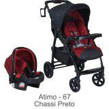 Conjunto Carrinho Módulo + Bebê Conforto Touring Evolution Atimo - Burigotto