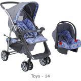 Conjunto Carrinho Rio Plus Reversível + Bebê Conforto Touring SE Toys - Burigotto