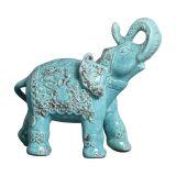 Enfeite Elefante Indiano I Azul Turquesa Buzzios