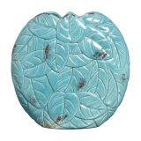 Vaso Chaton Folhas  Azul Turquesa Buzzios