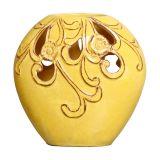Vaso Flores II  Amarelo Buzzios