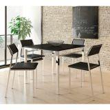Conjunto 2 Cadeiras de Cozinha Cromada 1709 Preto e
