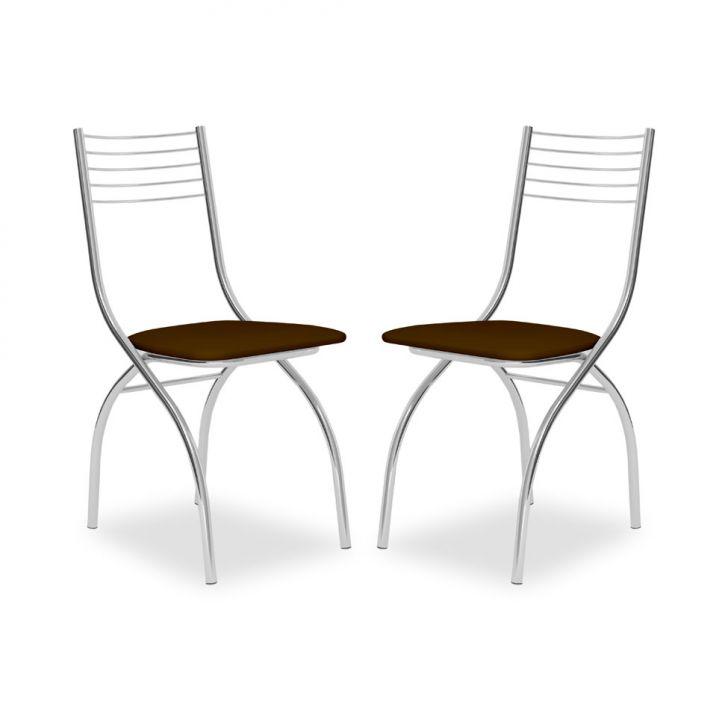 Kit 2 Cadeiras De Cozinha 146 Cacau |Carraro