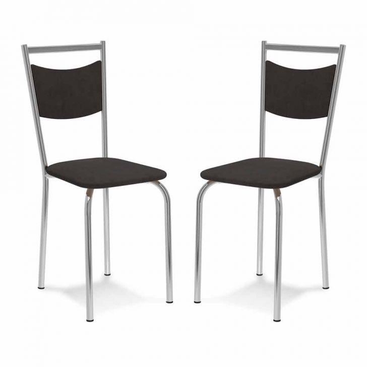 Kit 2 Cadeiras De Cozinha 163 Chumbo |Carraro