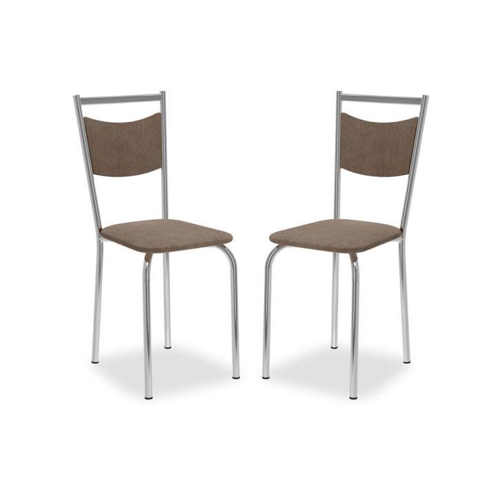 Kit 2 Cadeiras De Cozinha 163 Conhaque |Carraro