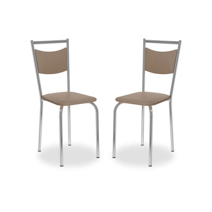 Kit 2 Cadeiras De Cozinha 163 Nap Caramelo |Carraro