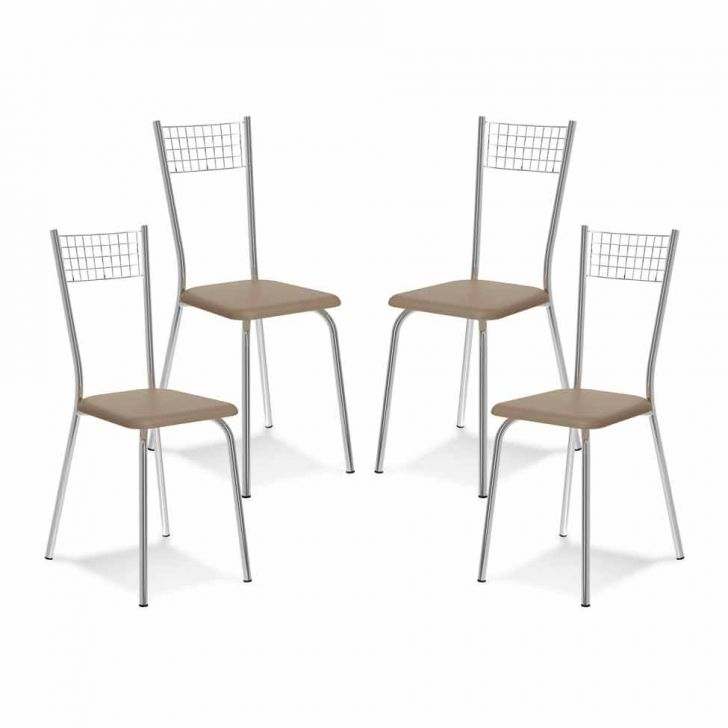 Kit 4 Cadeiras De Cozinha 141 Caramelo |Carraro
