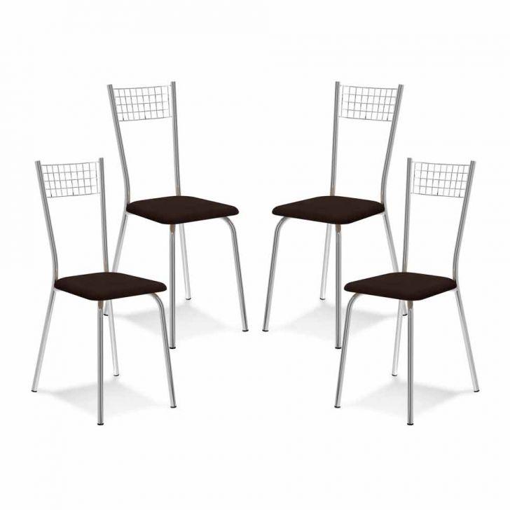 Kit 4 Cadeiras De Cozinha 141 Chocolate |Carraro