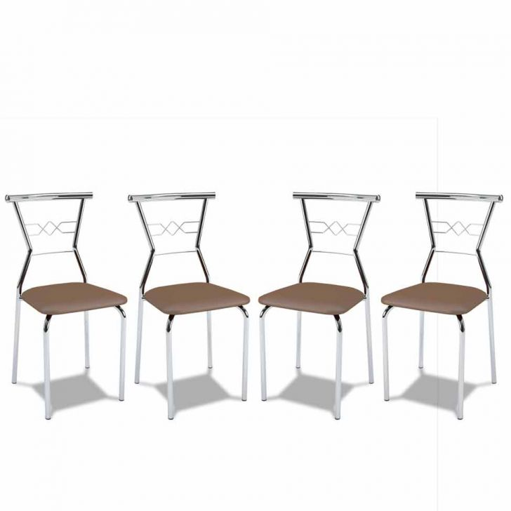Kit 4 Cadeiras De Cozinha 152 Caramelo |Carraro
