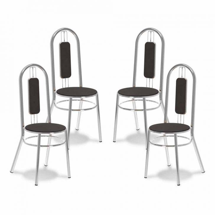 Kit 4 Cadeiras De Cozinha 171Chumbo |Carraro