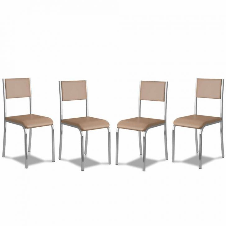 Kit 4 Cadeiras De Cozinha 366 Caramelo |Carraro