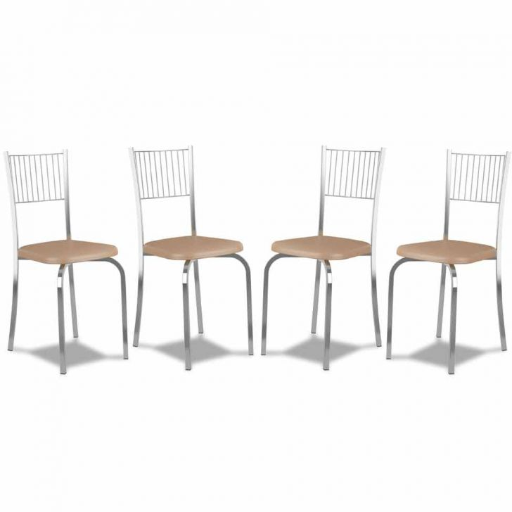 Kit 4 Cadeiras De Cozinha 367 Caramelo |Carraro