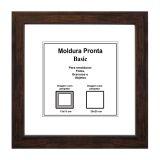 Moldura Pronta 20x20 Basic Tabaco Casa Castro