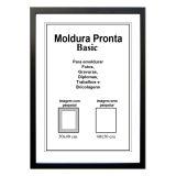 Moldura Pronta 40x50 Basic Preta Casa Castro