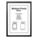Moldura Pronta 50x70 Basic Preta Casa Castro