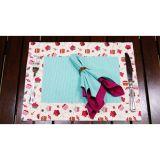 Kit de jogo americano 35 x 45 cm Cup Cake Bege 8 pçs Casa Com Charme