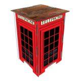 Banco desmontável - Cabine telefônica de Londres