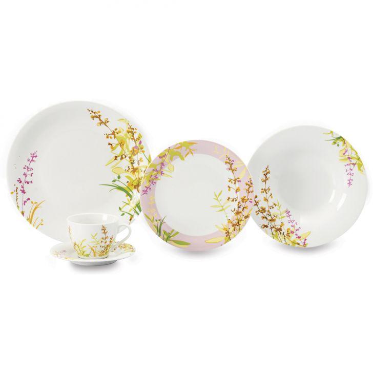 Jogo de Jantar Flores I Porcelana 20 pçs