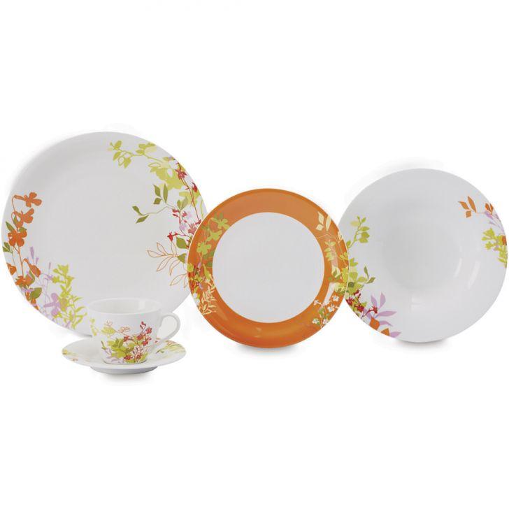 Jogo de Jantar Flores Porcelana 20 pçs