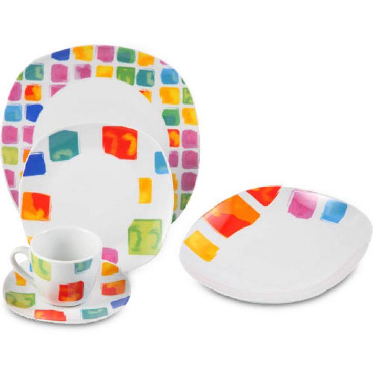 Jogo de Jantar Quadrado Square Porcelana 20 pçs