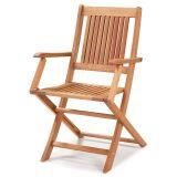 Cadeira Dobrável com Braços para Áreas Externas em Madeira Eucalipto - Maior Durabilidade – Jatobá