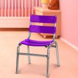 Cadeira Infantil em Alumínio Polido - Roxa