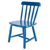 Cadeira Infantil em Madeira - Acabamento Laqueado Azul