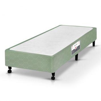 Base para Cama Box Solteiro Si Poli Verde Castor Box Si Poli Verde