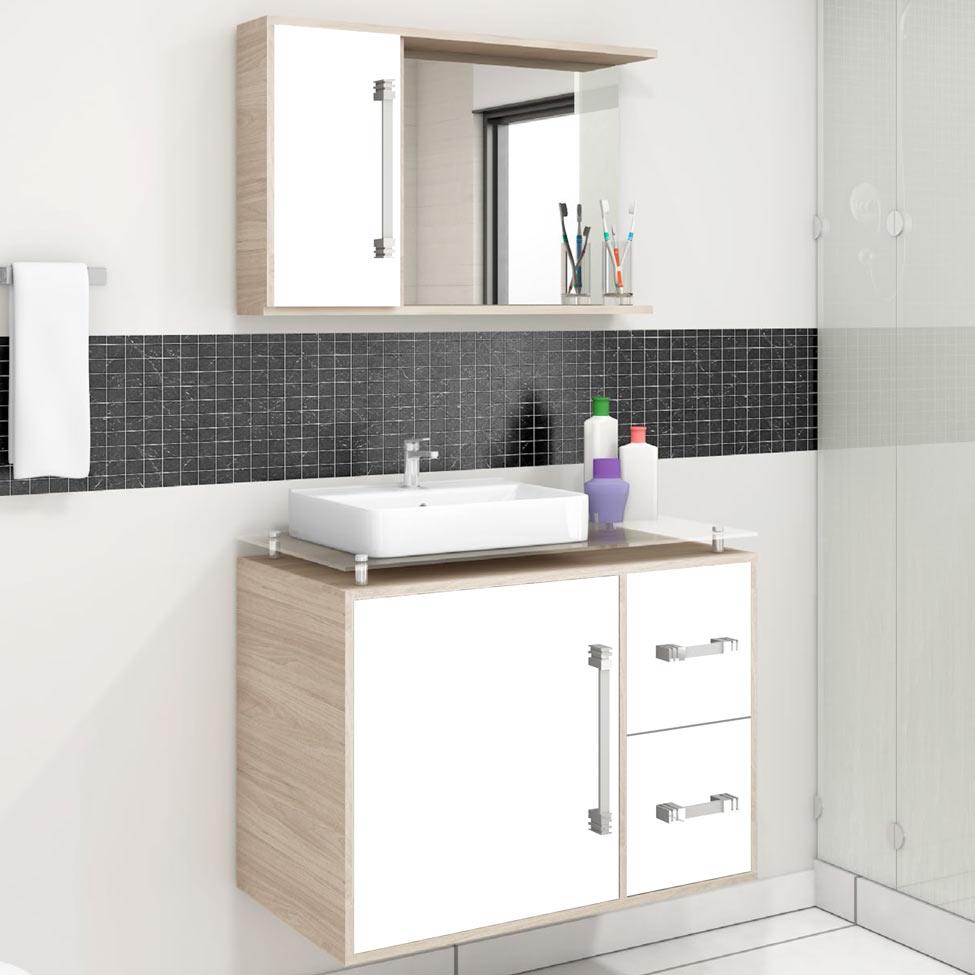 Armario Banheiro Espelho  Mobly -> Gabinete De Banheiro Mobly